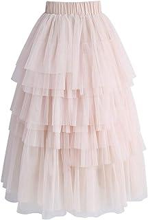 KoKoHouse Falda tutú de Tul para Mujer, Estilo clásico de los años 50, con Capas de Malla, Cintura elástica, línea A, Vestido de Baile de graduación o Fiesta