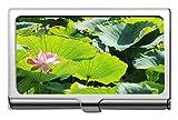 Titular de la tarjeta de visita profesional de flor de loto ornamental Yanteng Titular de la tarjeta de identificación de crédito empresarial de Lotus-Steel