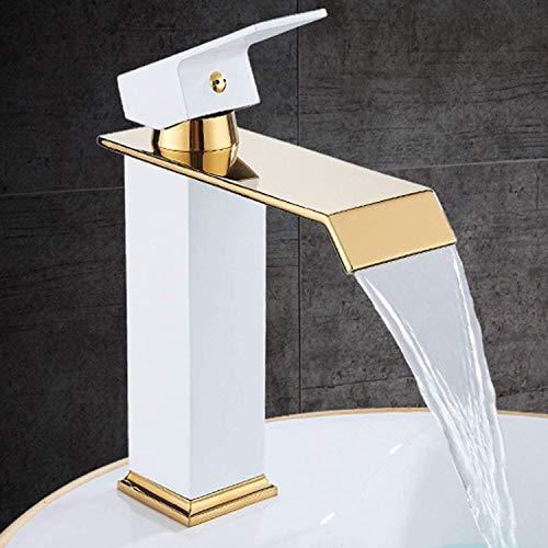 LLYY Wasserhahn Badzimmer Regendusche Duscharmatur Duschkopf Duschsystem inkl Handbrause Shower Set Höhenverstellbar (Weiß-A)