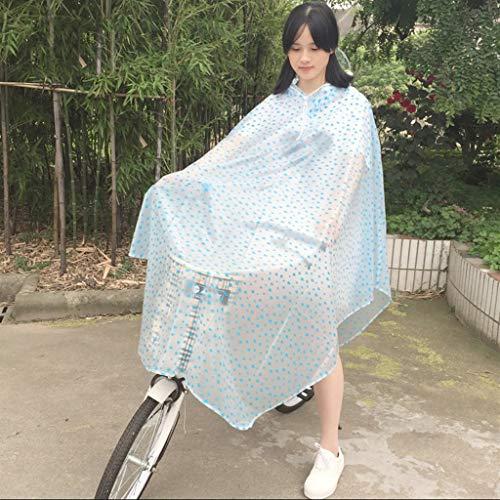 Cheng-chubasquero Impermeable Transparente Un Solo Paseo Big Hat Aleros Impermeable Bicicleta eléctrica...
