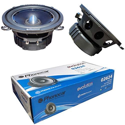 2 PHONOCAR 02624 altoparlanti medio basso woofer 13,00 cm 130 mm 5' 100 watt rms 200 watt max impedenza 4 ohm 90 db spl porte auto nero, a coppia
