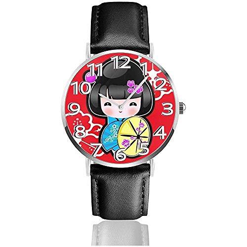 Armbanduhr japanische Puppe Mädchen Classic Casual Quarzuhr Business-Uhren