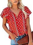 SLYZ Camiseta De Manga Corta De Verano para Mujeres Europeas Y Americanas, Camiseta con Estampado De Flores Rotas para Niñas, Camiseta De Manga Corta con Cuello En V