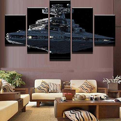 SNKENR 5 Pieces/Set Star Wars Imperial Battleship Star Destroyer Modern Home Wall Decor Canvas Picture Art HD Print Painting Canvas ArtNo Framed40x60cm40x80cm40x100cm