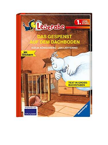 DAS GESPENST AUF DEM DACHBODEN - Leserabe 1. Klasse - Erstlesebuch für Kinder ab 6 Jahren: In Großbuchstaben (Leserabe - 1. Lesestufe)