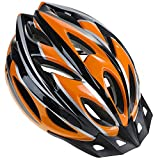 Zacro Adult Bike Helmet - CPSC Certified Cycle Helmet, Specialized for Womens Safety Protection, Collocated with a Headband, Black Plus Orange Helmet