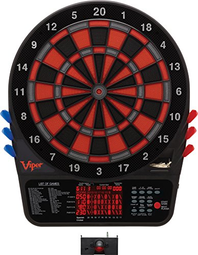 Viper 800 Electronic Dartboard, Extended Scoreboard For Spanish Cricket, Regulation Size for...