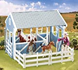 Breyer Freedom Series (Classics) Country Stable with Wash Stall   15' x 9.5' x 12'   1:12 Scale   Blue and White   Model #699