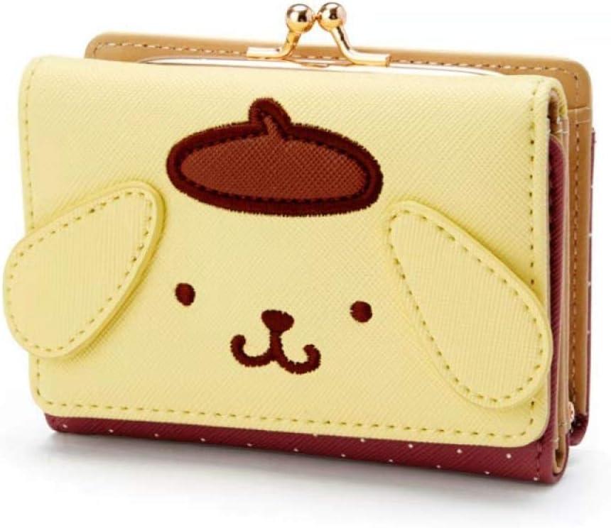 ArtZhou Cute Cartoon My Melody Cinnamoroll Small Wallet Short Ladies Girls Purses Pompompurin Pu Leather Trifold Wallets Women Money Bag, ZL-02, Artzhou6947382086656