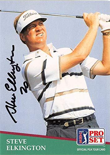 Steve Elkington autographed golf card (PGA, Houston Cougars) 1991 Pro Set #148 - Autographed Golf Equipment