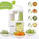 Spiralizer 4-Blade Vegetable Spiralizer Sedhoom Heavy Duty Spiral Slicer Zucchini Noodle & Veggie