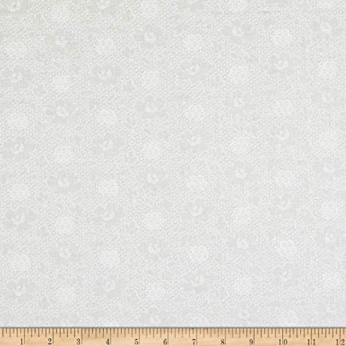 Cotton Tone on Tone Monet White Quilt Fabric By The Yard product image
