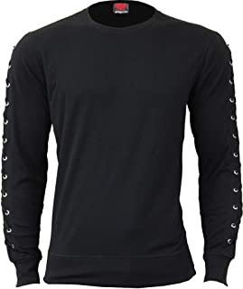 Mens - Gothic Rock - Laceup Sleeve Gothic Top