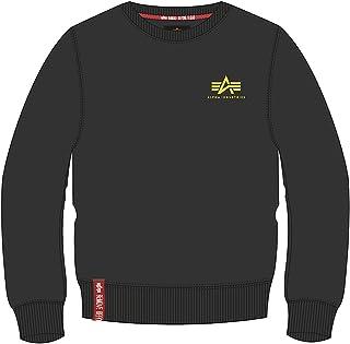 Alpha Industries Basic Small Logo Neon Print Sweatshirt Black/Yellow 3XL