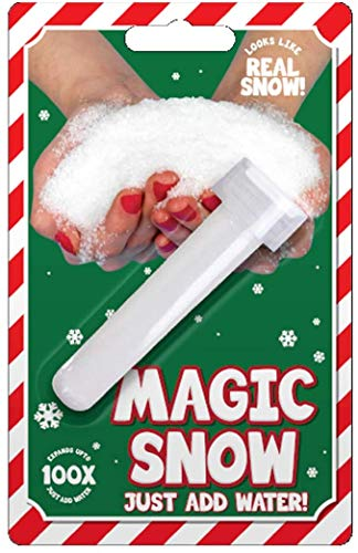 AKH Magic Snow | Instant Snow | Magic Fake Snow Tube Instant Xmas Powder Artificial Christmas Decoration Fluffy | Just add Water!