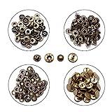 KLEHOPE 50 Piezas Buttons, Botones Reutilizables Para Pantalones Vaqueros, Botones de Metal de Diseño Vintage, Aptos para Ropa, Bolsos, Chaquetas