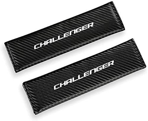 2 Piezas conCoche Logo Almohadillas Cinturón Seguridad Para Dodge Challenger, cómodas CinturóN De Seguridad Hombro Correa Auto Estilo Accesorios