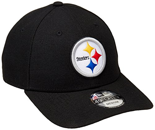New Era 11432349 Gorra Oficial 49FORTY Pittsburgh Steelers, color Azul, talla S