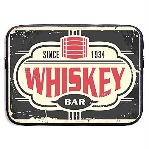 Whisky Bar Vintage Carteles Chapa Bolso Manga portátil