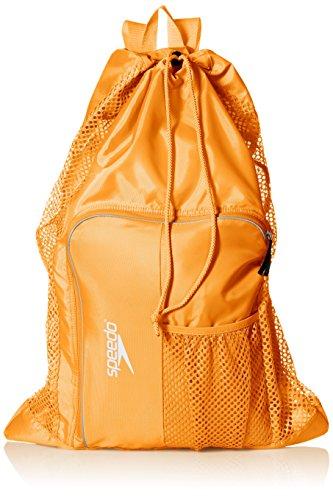 Speedo Unisex-Adult Deluxe Ventilator Mesh Equipment Bag Bright Marigold, One Size