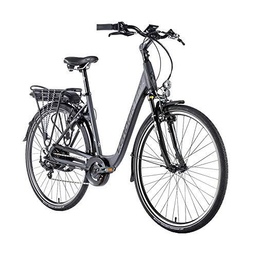 Fahrrad Electrique-Vae City Leader Fox 28'' Park 2020 Gemischt Motor Rad Ar Bafang 250w 36v Alu 7v Shimano Tourney Grau