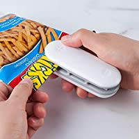 Praktisches Gadget: Dieses Folienschweissgerät ist ein nützlicher Helfer im Alltag, ein guter Helfer in jeder Küche. schnell funktioniert, frische oder trockene Lebensmittel wie Nuss oder Chips aufzubewahren. 2 in 1: Dichtungsmaschine & Öffnungsmasch...