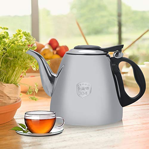 Bracon Stainless Steel Kettle - 1.2L Stainless Steel Stove-top Teapot Tea Coffee Pot Kettle Heat Resistant Handle 1.2L