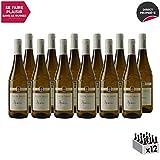 Vin de Savoie Apremont Blanc 2019 - Philippe et Sylvain Ravier - Vin AOC Blanc de Savoie - Bugey - Cépage Jacquère - Lot de 12x75cl