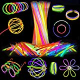 Attikee 840 PCS Glow Sticks Bulk, Glow Party Favors, 8 Inch 7 Colors 400PCS Glow Sticks & 440PCS Connectors for Eyeglasses Balls Flowers Necklaces Bracelets, Glow in Dark Light Sticks for Kids Adults
