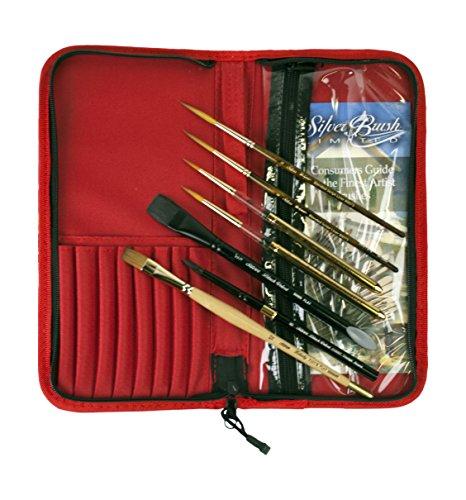 Silver Brush Tom Lynch PLEIN Air Travel Brush set, legno,, set di 7