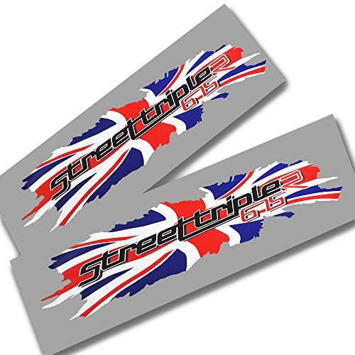 ziondesigns Triumph Street Triple 675r Union Motif Drapeau Carte Graphique Stickers Stickers X 2 Petite 675 R Plat Couleur
