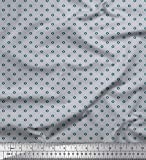 Soimoi Grau Samt Stoff geometrisch klein Stoff Meterware 58