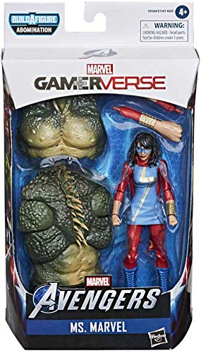 COLLECTOR Marvel Legends Gamerverse- Vengadores - Ms Marvel- Colecciónalos todos para construir figura Abominación! Figura con accesorios, aprox. 6 pulgadas