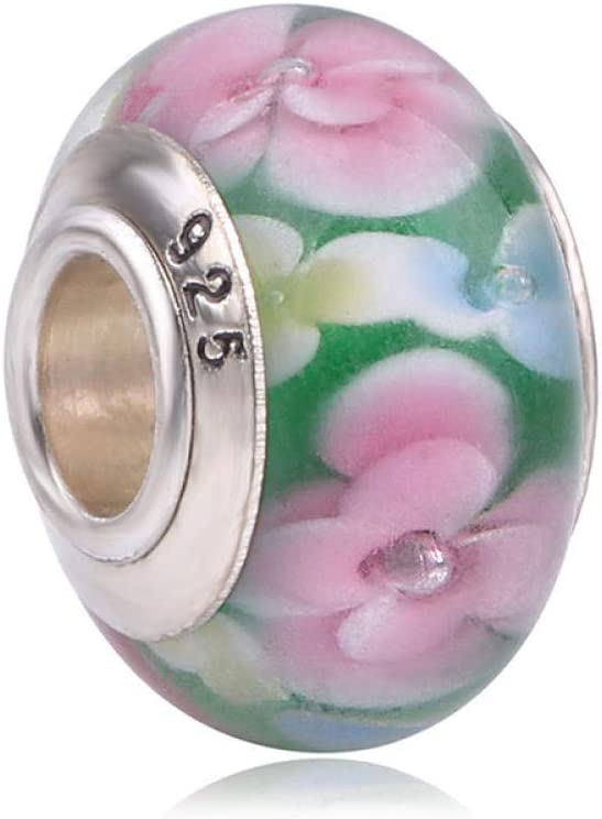 ZFCMIAO Stained Glass Beads Color Mesa Mall Spasm price Suitable Charm DIY beads-F for