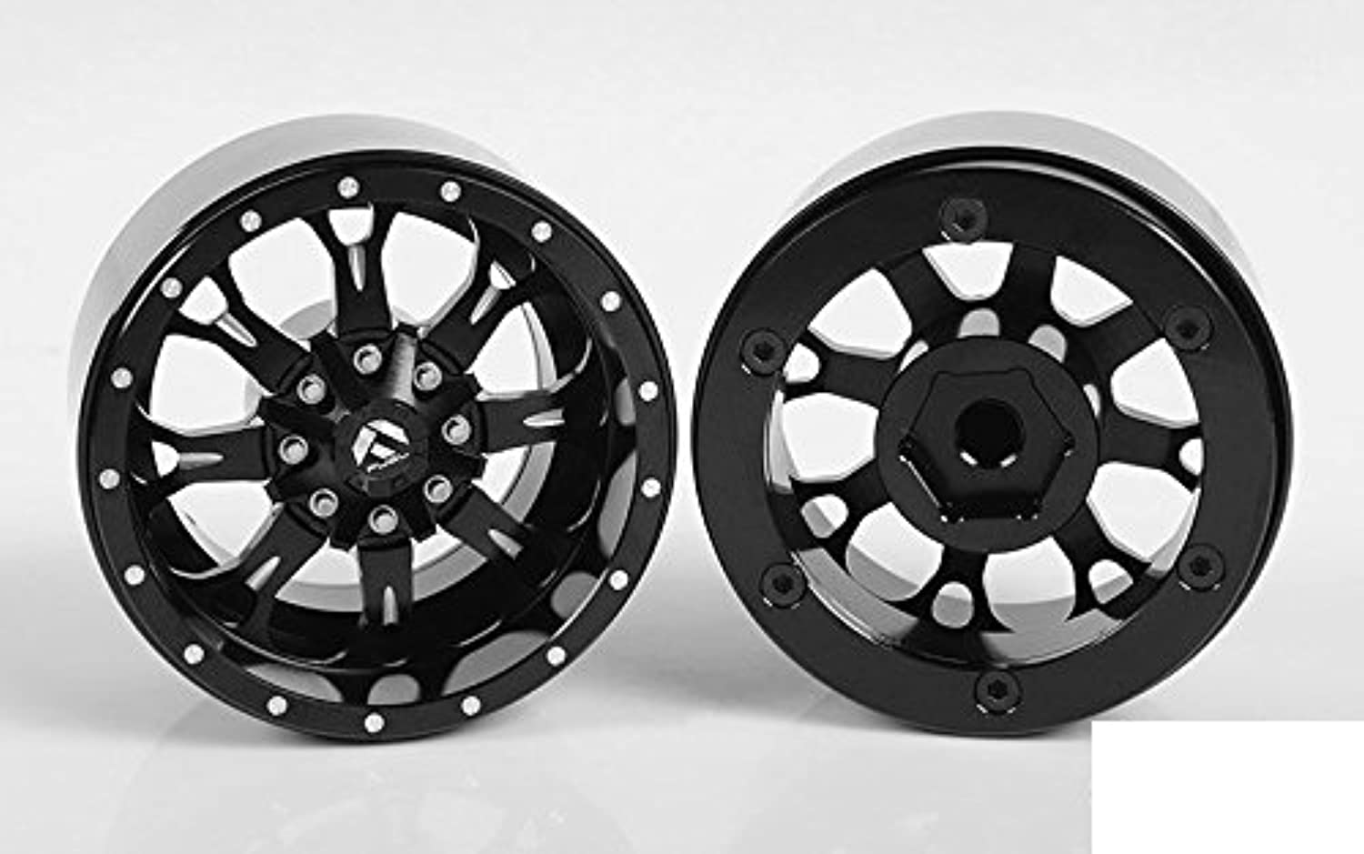 RC4WD Fuel Offroad Krank 1.7  Beadlock Wheels Z-W0256 Black Off-Road Neg offset