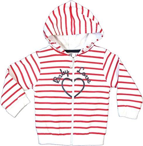 Step In Step In Baby Mädchen Sweatjacke mit Kapuze, 3727, weiß/rot, Gr. 74