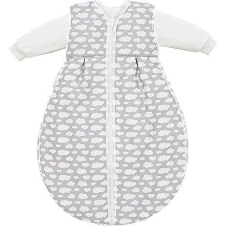 Alvi Kombi-Schlafsack 2tlg. Gr. 70 Motiv: Wolke Grau - Ganzjahresschlafsack für einen sicheren, gesunden Schlaf
