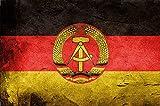 Generisch DDR Nationalflagge Blechschild Metallschild Schild Metal Sign 20 x 30 cm
