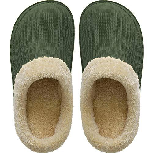 ZAPZEAL - Zapatillas de jardín unisex con forro extraíble para hombre y mujer, talla 2-14, color Verde, talla 41/42 EU
