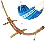 Set Supporto larice doppio con amaca artigianale blu semplice