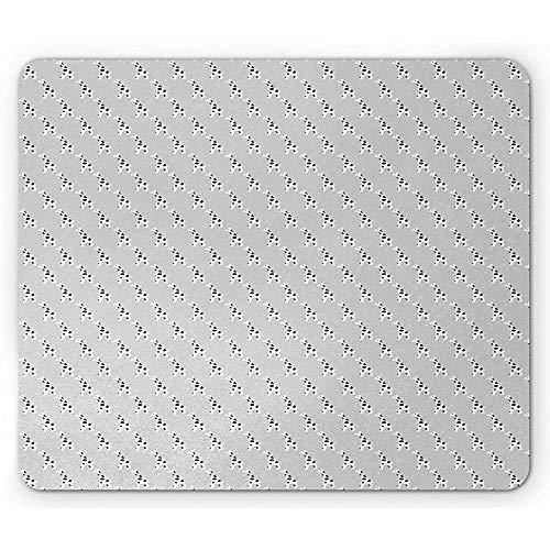 Animal Print Mouse Pad, Continu Kwekerij Patroon Met Simplistische Giraffe, Rechthoek Antislip Rubber Mousepad, Standaard Grootte, Pale Grijs Kolen Grijs