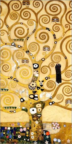Posterlounge Acrylglasbild 50 x 100 cm: Stoclet-Fries: Der Lebensbaum (Mittelteil) von Gustav Klimt - Wandbild, Acryl Glasbild, Druck auf Acryl Glas Bild