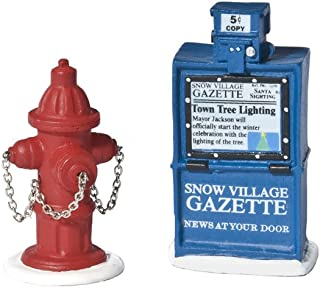 Department 56 Accessories for Villages Fire Hydrant and Newspaper Box Accessory Figurine (Set of 2)