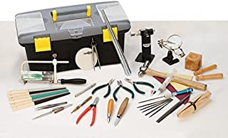 Jeweler's Complete Hand Tool Value Set Polishing Torch Ring Tool Tweezers Solder Plier Dapping Metal Forming Kit