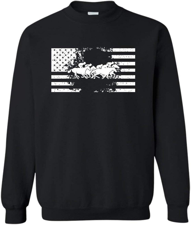 Max 49% OFF Horse Racing Flag T Sweatshirt Long Shirt Sleeve Store