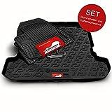 Autoteppich Stylers (Fahrzeug wählbar) Gummifussmatten & Kofferraumwanne Set passend für Astra J Sports Tourer Kombi 2010-