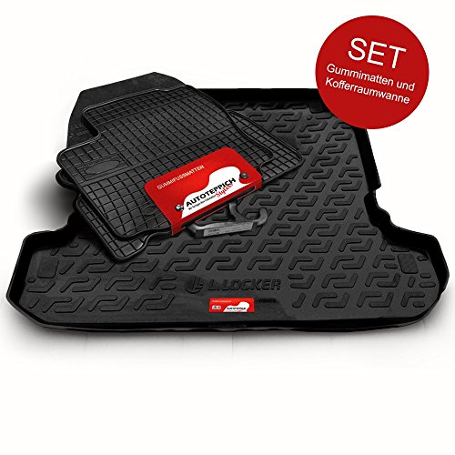 Autoteppich Stylers (Fahrzeug wählbar) Gummifussmatten & Kofferraumwanne Set passend für Audi Q5 8R 5-türig ab 2008-