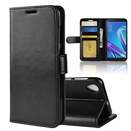 XMTN ASUS ZenFone Live (L1) ZA550KL 5.5' Custodia,Premio PU Custodia in Pelle con Wallet Case Cover per ASUS ZenFone Live (L1) ZA550KL Smartphone (Nero)