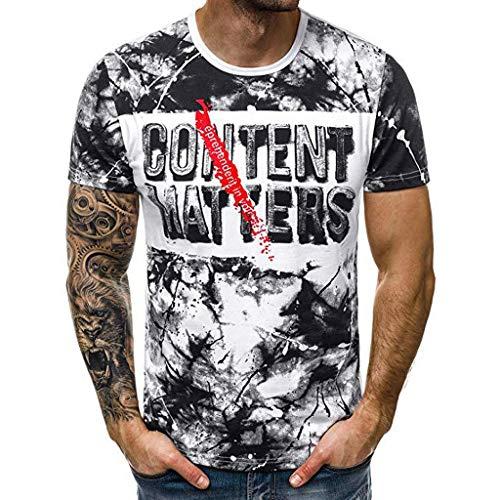 Zarupeng heren T-shirt met ronde hals, zomer, korte mouwen, basic shirt, top slim fit, vrijetijdshemd, ademend sweatshirts
