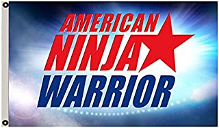 Annfly American Ninja Warrior Flag Competition Obstacle ANW Race Gym 3x5' Logo Banner